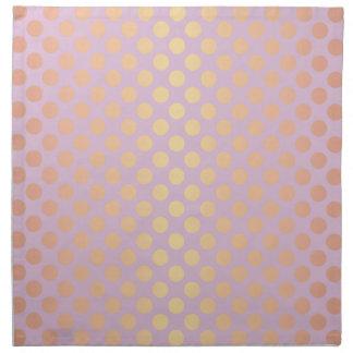 Elegant stylish rose gold polka dots pattern pink napkin