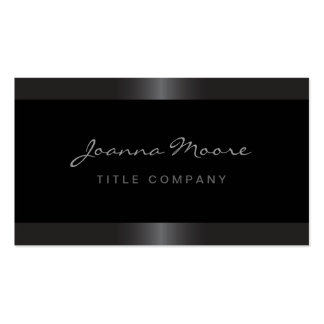 Elegant stylish satin grey border black business cards