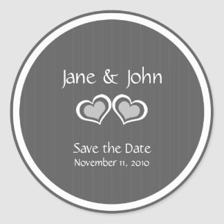 Elegant Stylish Save the Date Wedding Round Sticker