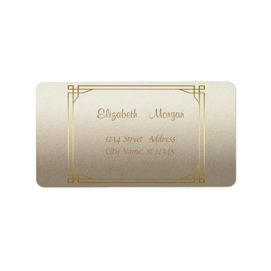 Elegant Stylish Shiny,Faux Gold Frame Address Label