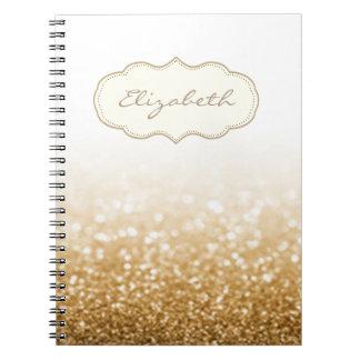 Elegant Stylish ,Shiny , Glittery Bokeh Notebook