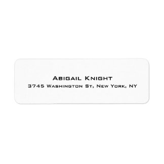 Elegant Stylish Trendy Unique Special Professional Return Address Label