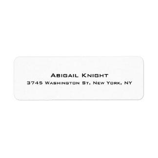 Elegant Stylish Trendy Unique Special Professional Return Address Label