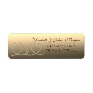 Elegant  StylishRope Hearts  Address Label