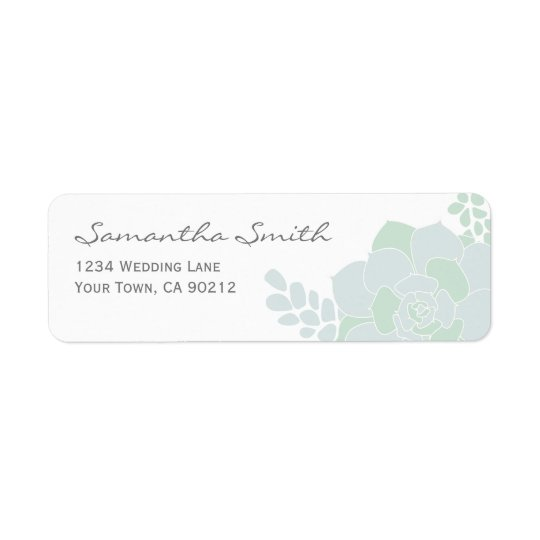 Elegant Succulent Wedding Return Address Labels