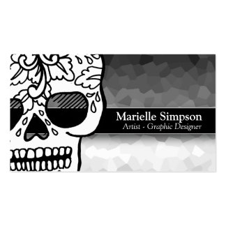 Elegant Sugar Skull Magic Ombre Fashion Boutique Pack Of Standard Business Cards