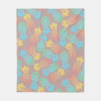 elegant summer tropical colorful pineapple pattern fleece blanket