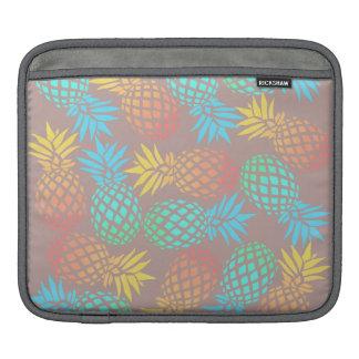 elegant summer tropical colorful pineapple pattern iPad sleeve