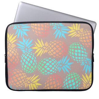 elegant summer tropical colorful pineapple pattern laptop sleeve