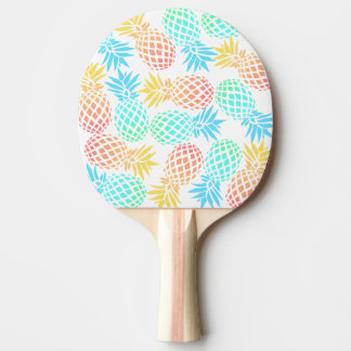 elegant summer tropical colorful pineapple pattern ping pong paddle