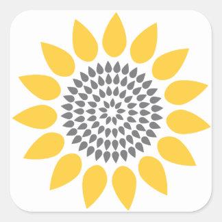Elegant Sunflower Envelope Seal