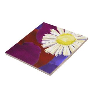Elegant Sunflower Rose Petal Art Small Square Tile