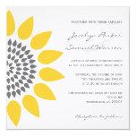 Elegant Sunflower Wedding Personalised Announcements