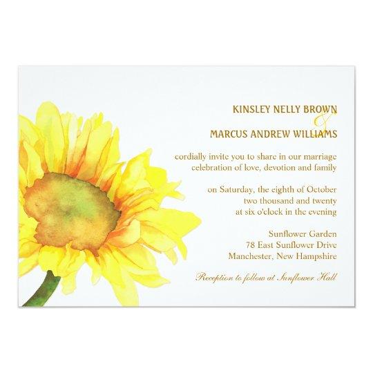 Elegant Sunflowers Casual Outdoor Wedding Card