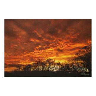 Elegant Sunset Wood Wall Art
