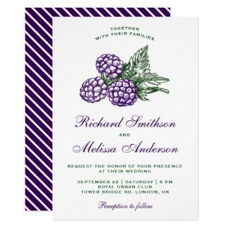 Elegant Sweet Blackberries Wedding Invitation