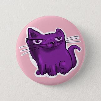 elegant sweet kitty sitting and smiling 6 cm round badge