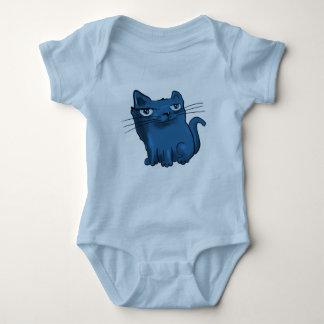 elegant sweet kitty sitting and smiling baby bodysuit