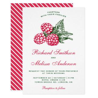Elegant Sweet Raspberries Wedding Invitation