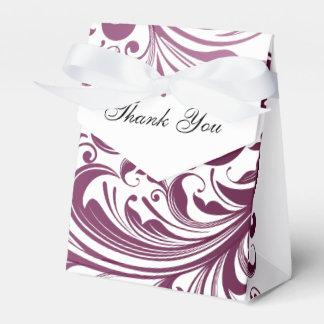 Elegant Swirl Favor/Gift Tent Box - Purple Favour Box