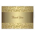 Elegant Swirl Gold Thank You Cards