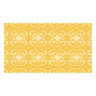 Elegant Swirl Pattern in Golden Yellow Colors. Business Card Template