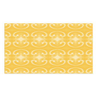 Elegant Swirl Pattern in Golden Yellow Colors. Business Card