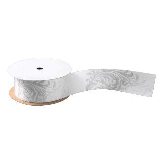 Elegant Swirl Ribbon - Silver Satin Ribbon