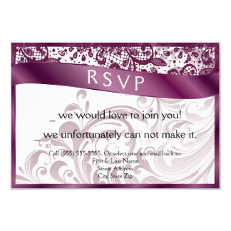 Elegant Swirl RSVP Card 3.5x5