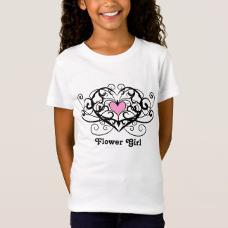 Elegant swirls and hearts flower girl T-Shirt