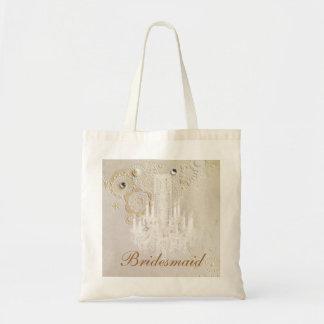 elegant swirls chandelier vintage bridesmaid canvas bag