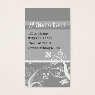 Elegant Swirls - Customised Business Card
