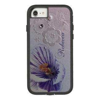 elegant swirls purple orchid floral Case-Mate tough extreme iPhone 8/7 case