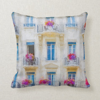 Elegant Swiss Windows Pink Floral Photographic Cushion
