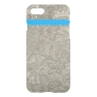 Elegant Taupe floral iPhone 7 Case