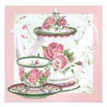 Elegant Tea Party - SRF Personalised Announcement
