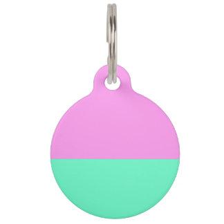 Elegant Teal and Purple Color Blocks Pet Tag