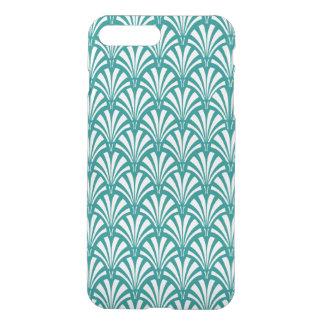 Elegant Teal Art Deco Clear Pattern iPhone 7 Plus Case