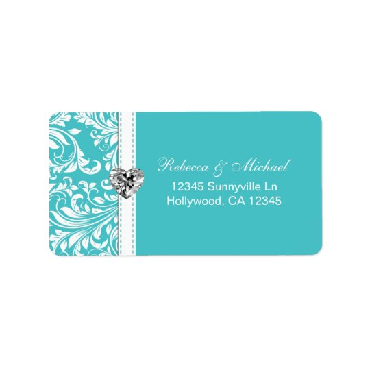 Elegant Teal Blue Address Labels