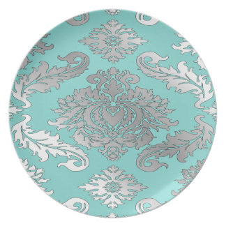 Elegant Teal Blue Dinner Plates