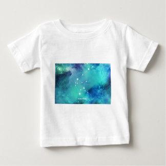 Elegant Teal Blue Watercolor Nebula Aquarius Baby T-Shirt