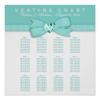 Elegant Teal Blue Wedding Seating Chart