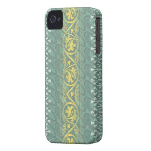 Elegant Teal Butter Damask Blackberry Bold Case-Mate Blackberry Case