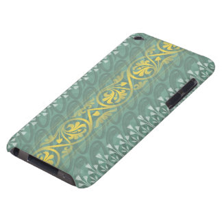 Elegant Teal Butter Damask Case-Mate  iPod Touch iPod Touch Cases