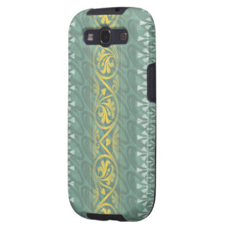 Elegant Teal Butter Damask  Samsung Galaxy S3 Vibe Galaxy SIII Cases