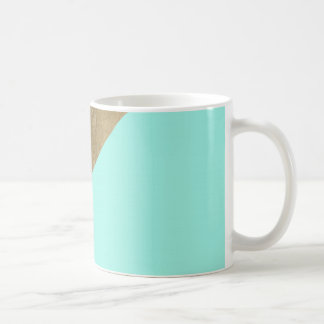 Elegant teal color block faux gold chic glamour coffee mug