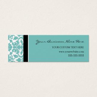 Elegant Teal Damask Business Cards