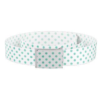 Elegant Teal Glitter Polka Dots Pattern Belt