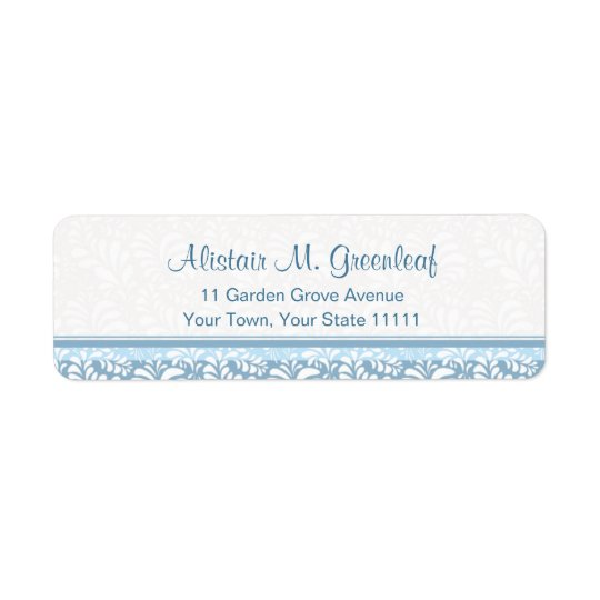 Elegant Teal Green  Arts & Crafts Return Address Return Address Label