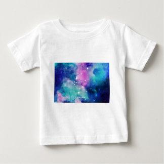 Elegant Teal Pink Blue Nebula Aquarius Baby T-Shirt